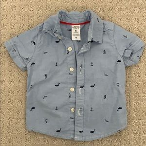 Carters short sleeve button Down